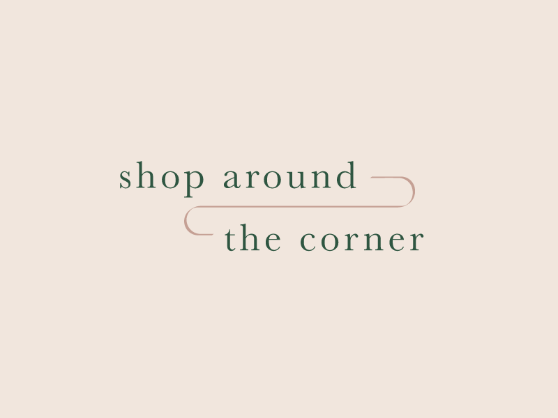 Shop Around the Corner Logo shop youve got mail bookstore logo design logo vector