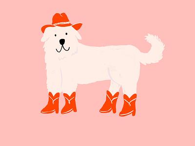 Cowboy Dog! hat cowboy hat cowboy boots cowboys procreate animals illustration dog illustration puppy dog cowboy