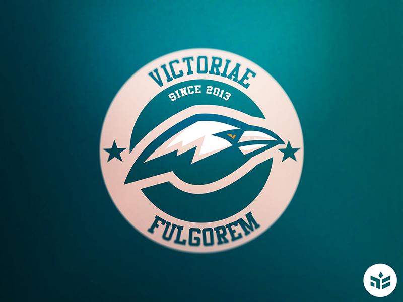 Victoriae Fulgorem sport logo raven esport logo