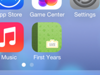 iOS 7 App Icon for First Years