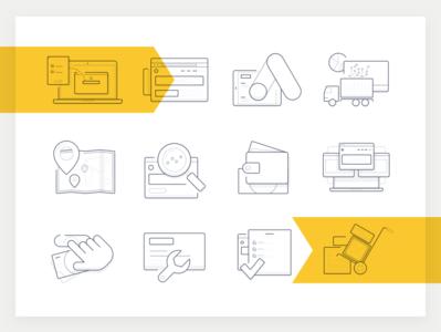 Icon set illustration vector desktop app software brothers branding ui icon-set adwords icon