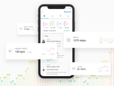 Health tracking app mobile design mobile app development mobile app design mobile app ui design health app