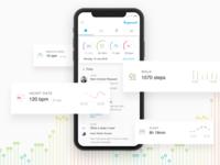 Health tracking app mobile design