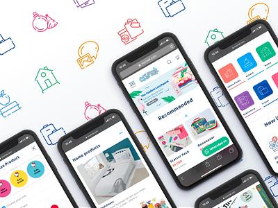 Essmak Webdesign Mobile mobile first responsize products for kids branding customization ui ux web design app