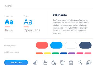 Essmak Webdesign ecommerce stylesheet web design typography ui ux