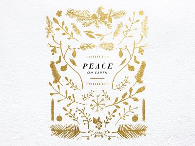 Peace peace keyart serif watercolor light christmas