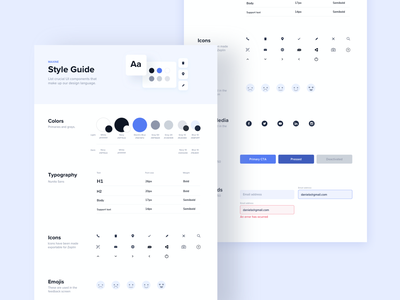 Style Guide Firstly app ux costa rica style frame app design components ui components ui design system styles style sheet style guide
