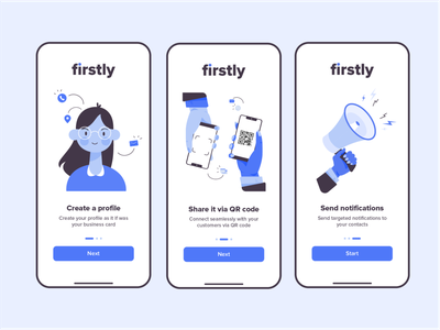 Firstly Onboarding onboarding illustration screens onboarding ui share ios app ui ux illustration onboarding