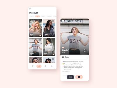 Dating App UI Concept dailyui costa rica ui design uiux ux concept ui dating app