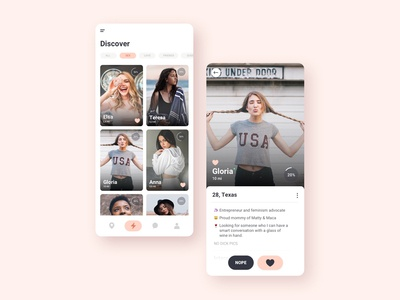 Dating App UI Concept