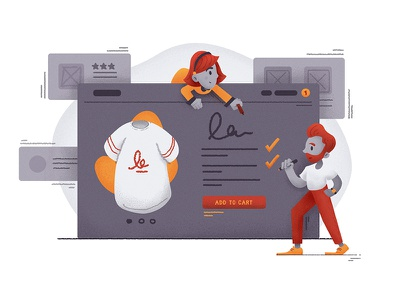 Compelling Product Copy Illustration web marketing color design character ecommerce illustration