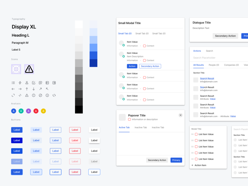 Attio Design Library themes light dark theme component library react components colours custom icons icons buttons modals crm platform visual design ui system design system design library dark mode