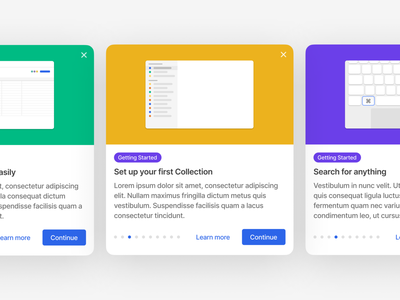 Onboarding illustration interface education explainer shortcuts keyboard complex crm onboarding card