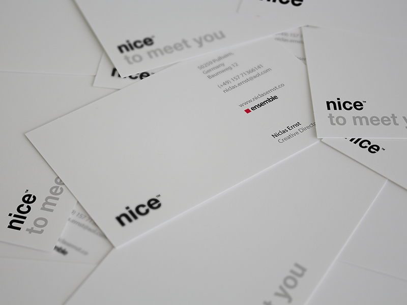 Personal Business Cards by Niclas Ernst - Dribbble