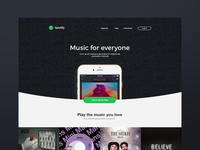 Spotify Website Redesign