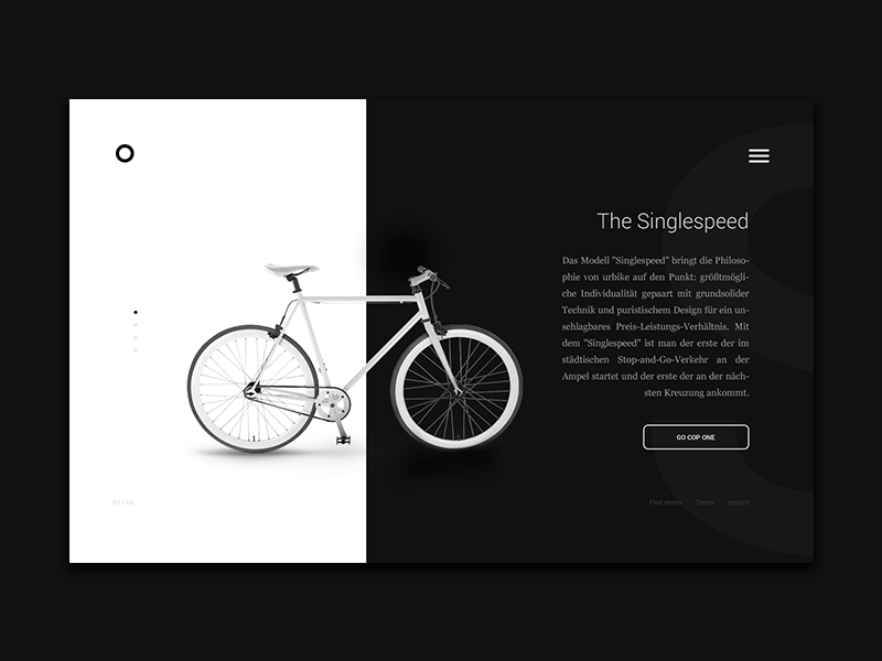 Landing Page webdesign web website landing page 003 dailyui challenge minimal ux ui