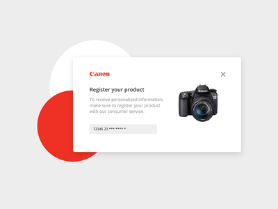 Pop Up experience card product register 016 dailyui challenge interface pop up ux ui