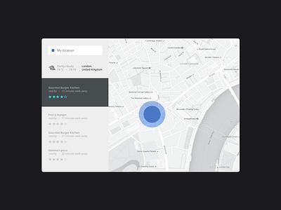 Location Tracking challenge 020 dailyui food map minimalism design tracking interface location ux ui