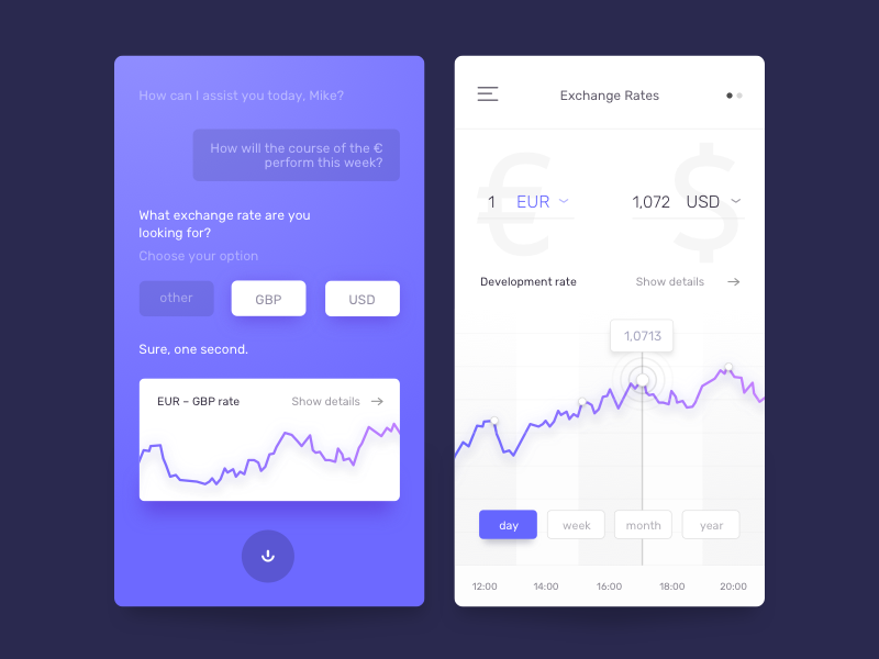 Currency Exchange App currency exchange minimal mobile finance credit colors card design ui app