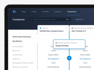 Compare and Manage Funds & Portfolios
