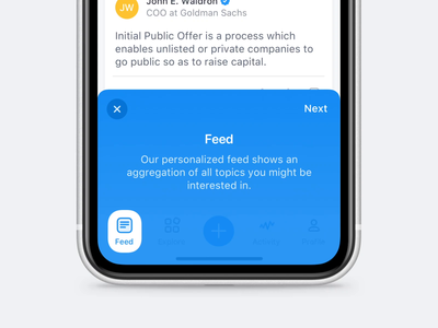 Mobile App Onboarding onboarding overlay tab bar mobile app ui ux popover slide mp4 animation micro interaction ios iphone x
