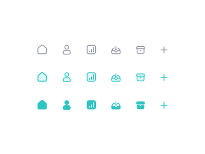 Icon Set icon set custom retina user experience user interface software product ux ui filled outline minimal icons icon design design