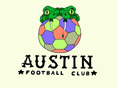 Austin FC Alt Snake Logo sports product design graphic design packaging logo illustrator illustration design branding