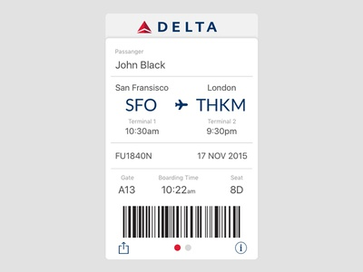 Daily UI #024 / Boarding Pass