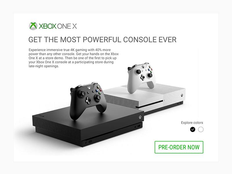 Pre Order / Daily UI #075 ux ui game purchase product pre-order xbox desctop dailyui concept 075