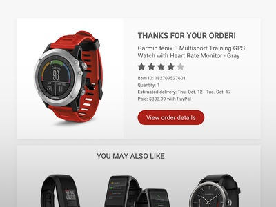 Thank You / Daily UI #077 web ux ui you thank subscribe phone newsletter watch email dailyui 077