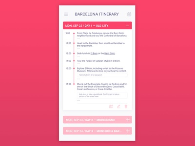 Itinerary / Daily UI #079