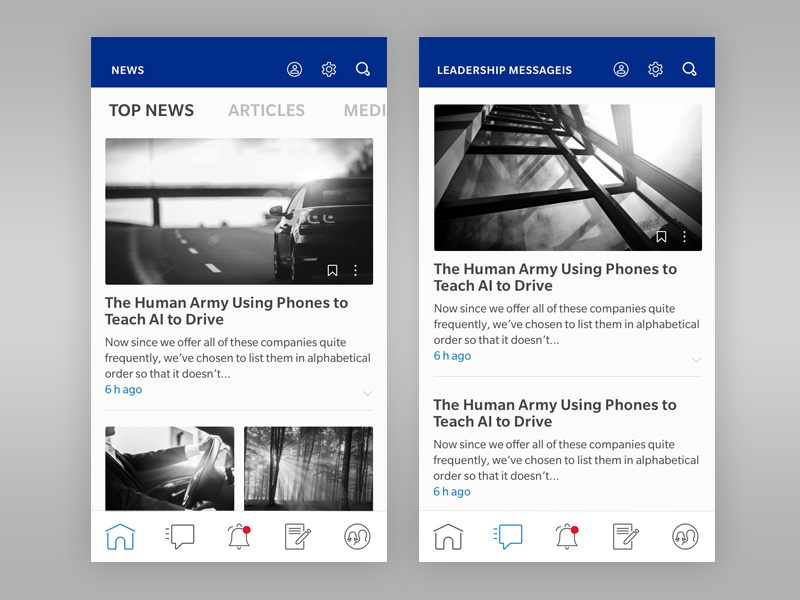 News / Daily UI #094 web ux ui type social read news dailyui comment article 094