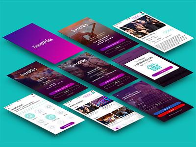 Eventpass Presentation ui design eventapp mobile app app ux design user flow eventpass