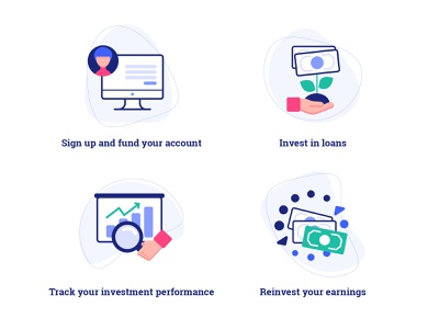 Invest with ease steps (Financial website icons) webicons website webdesign userinterface ui finance business finance app finances icons