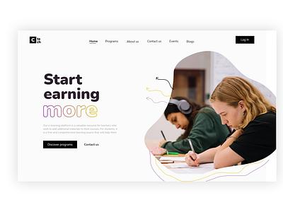 E-learning platform | landing page