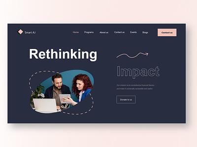 Smart AJ - Landing page design icon ui logo illustration design