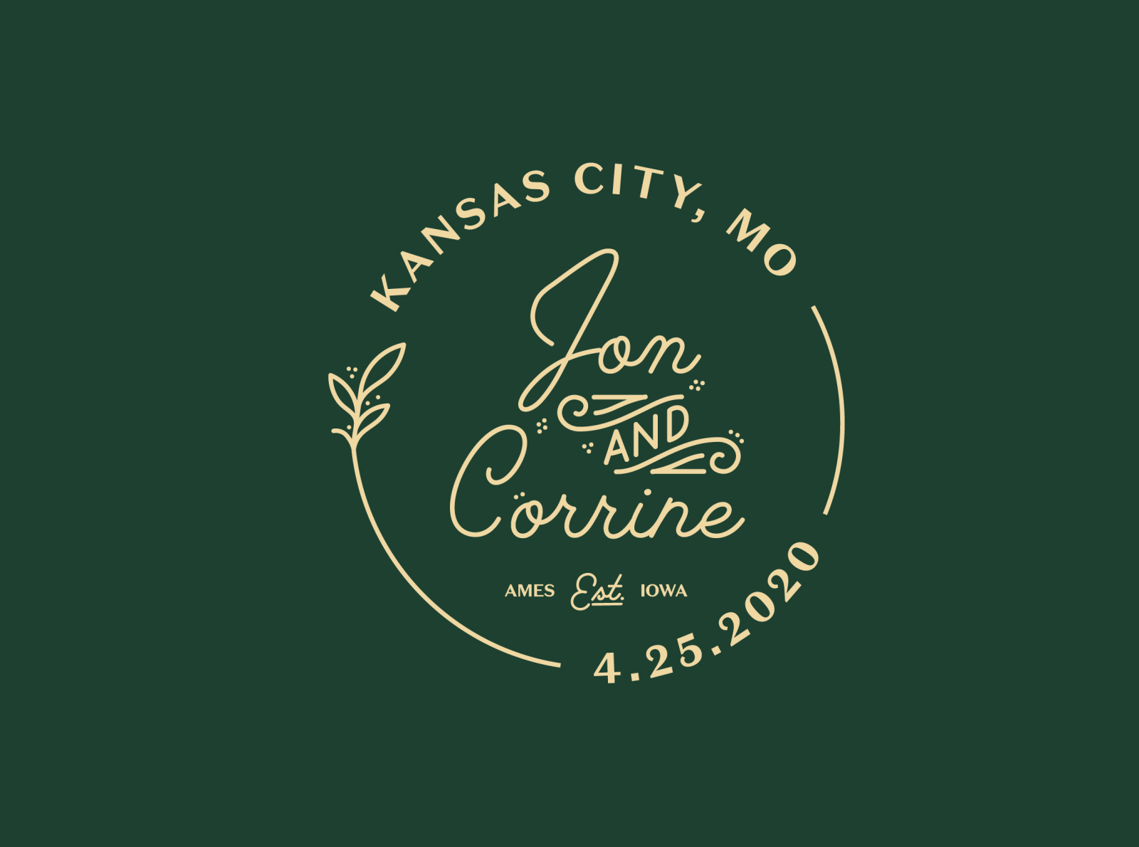 Jon & Corrine Wedding Badge
