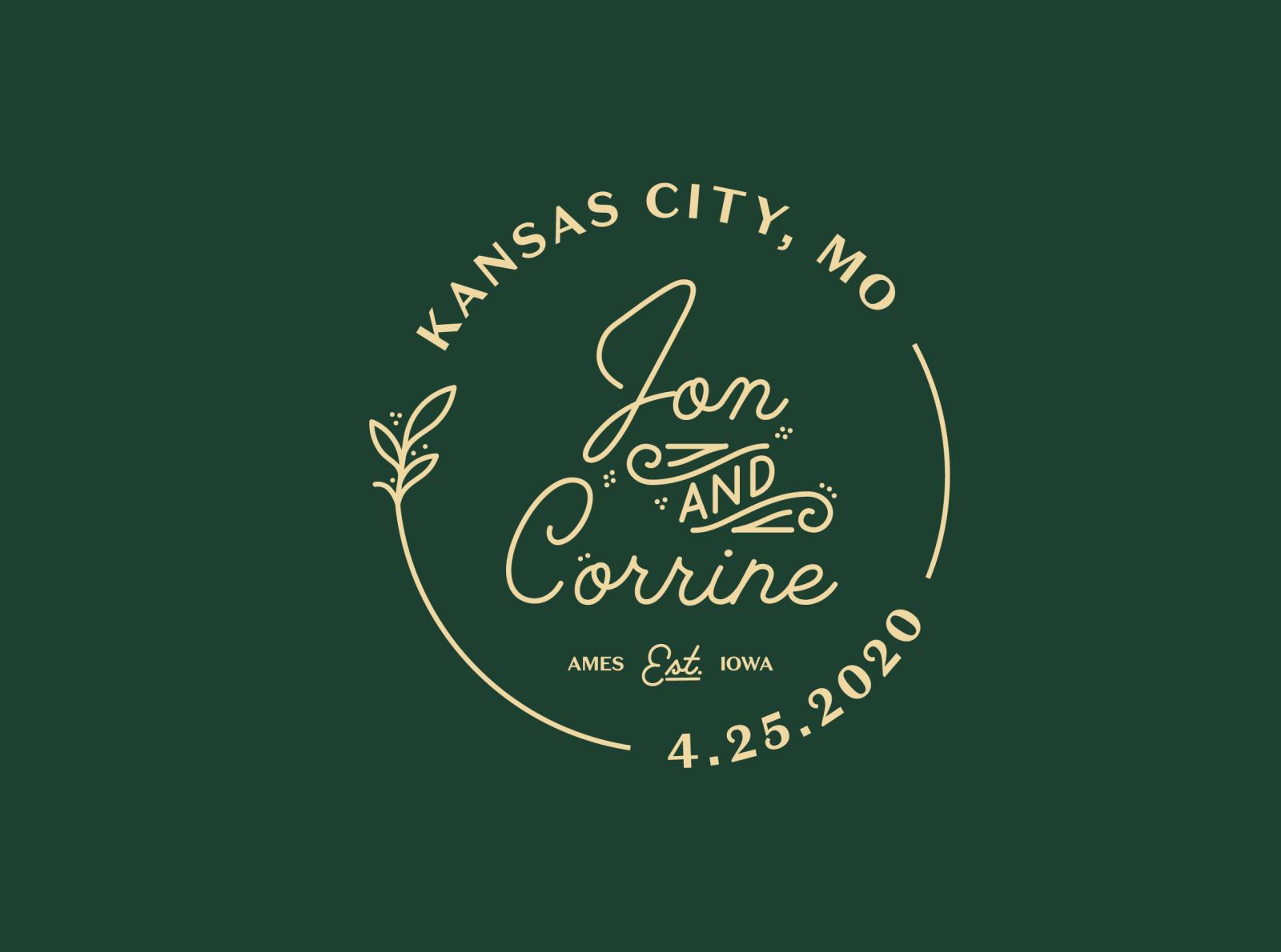 Jon & Corrine Wedding Badge
