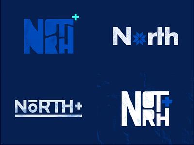 North+ blue color abstract minnesota branding logo cinema4d c4d 3d