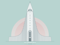Iceland Landmark Illustration