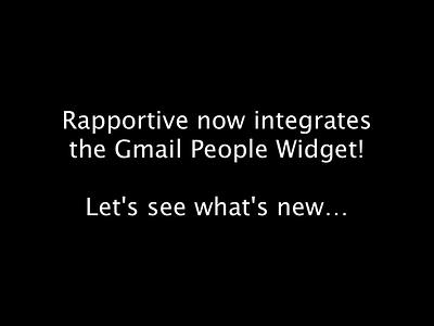 Rapportive People Widget people-widget rapportive