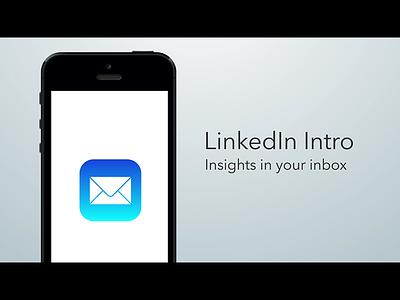 LinkedIn Intro —Launch Video intro linkedin rapportive