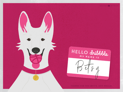 Hello Dribbble! german shepherd dribbble dog debut introduction hello