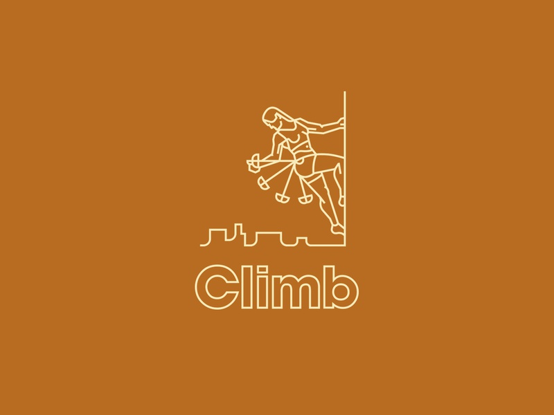 Trad Climber desert utah athletic sports rock climbing illustration thicklines