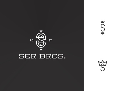 Ser Bros. Logo brothers twins bros line embossing heat leather