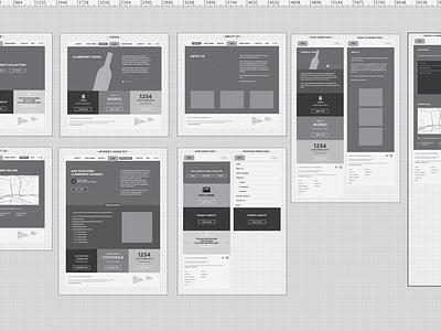 Wireframes wireframes illustrator blueprint desktop mobile responsive