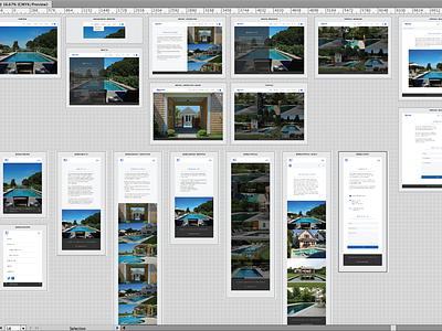 Presentation interface ui mobile responsive wireframes illustrator