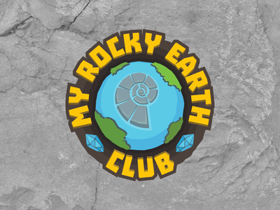 My Rocky Earth Club Logo subscription collection club kid earth rock logotype logo