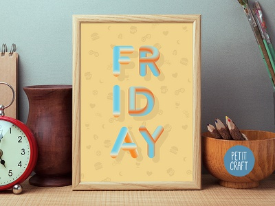 Friday Poster weekend chill out mustard yellow relax holiday friday