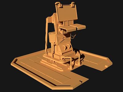 SciFi Kiosk sketchup sci-fi render prop post apocalypse kiosk game building 3d